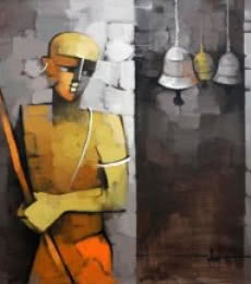 Figurative Acrylic Art Painting title Untitled by artist Deepa Vedpathak