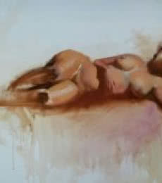 Sleeping Nude | Painting by artist Ganesh Hire | oil | Canvas
