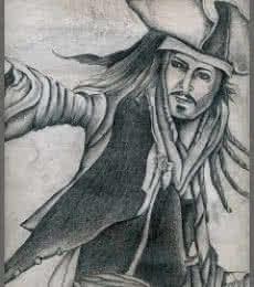 Johnny depp | Drawing by artist Soumen Roy |  | pencil | Art Paper