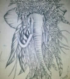 Animals Pencil Art Drawing title 'Silence of animal that talks his beauty' by artist Soumen Roy