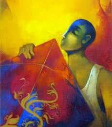 Kite | Painting by artist Sachin Akalekar | acrylic | Canvas