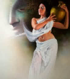 Affection 2 | Painting by artist Amit Bhar | acrylic-oil | canvas
