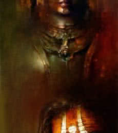 Pujari | Painting by artist Amit Bhar | acrylic-oil | canvas