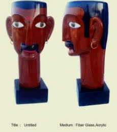 Telangana man | Sculpture by artist Narsimlu Kandi | Fiber Glass