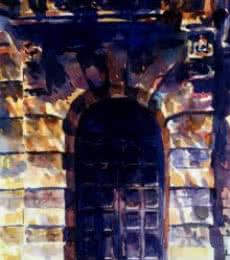 Mukhtar Kazi | Watercolor Painting title J J School Of Arts on Paper | Artist Mukhtar Kazi Gallery | ArtZolo.com
