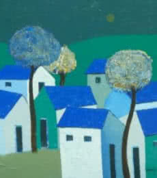 Village 1   Painting by artist Nagesh Ghodke   acrylic   Canvas