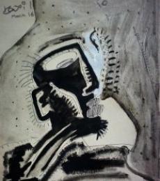Tickle | Mixed_media by artist Kapil Alaskar | Paper