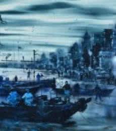 Banaras Ghat 5 | Painting by artist Sandeep Chhatraband | acrylic | Canvas