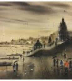 Banaras Ghat 8 | Painting by artist Sandeep Chhatraband | acrylic | Canvas