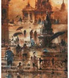 Banaras Ghat 13 | Painting by artist Sandeep Chhatraband | acrylic | Canvas