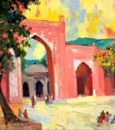 Ajmer III | Painting by artist Sikandar Mulla | postercolor | Paper