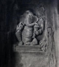Religious Charcoal Art Drawing title 'Lord Ganesha' by artist NILESH GAVALE