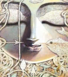 Inner Eye | Painting by artist Subrata Ghosh | acrylic | Canvas