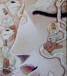 Madhusudan   Painting by artist Subrata Ghosh   acrylic   Canvas