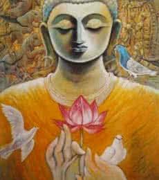Nirvana   Painting by artist Subrata Ghosh   acrylic   Canvas