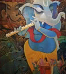 Vinayaka | Painting by artist Subrata Ghosh | acrylic | Canvas