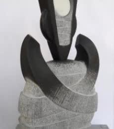 Untitled | Sculpture by artist Nema Ram | Black Marble