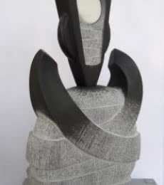 Untitled | Sculpture by artist Nema Ram | Black Marble