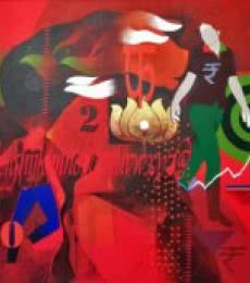 Homage   Painting by artist Ranjit Singh   acrylic   Canvas