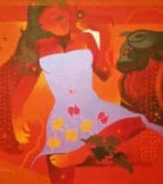 Beauty Beast-II   Painting by artist Ranjit Singh   acrylic   Canvas