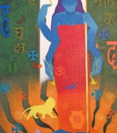 Feminity - 13 | Painting by artist Ranjit Singh | acrylic | Canvas