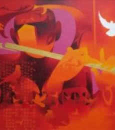 Joy Of Music-14 | Painting by artist Ranjit Singh | acrylic | Canvas