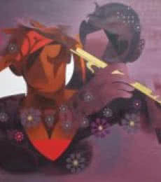 Figurative Acrylic Art Painting title 'Joy Of Music 9' by artist Ranjit Singh