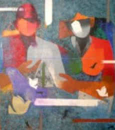 Man Woman | Painting by artist Ranjit Singh | acrylic | Canvas