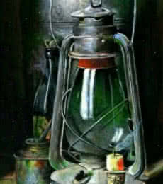 Realistic Acrylic Art Painting title 'Hypothesis of antiques and light' by artist Aayush Agarwal