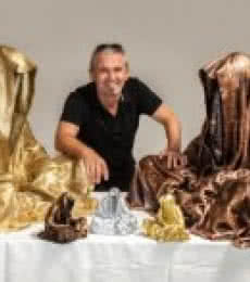 polyester Sculpture titled 'Guardians of time waechter der zeit time' by artist Manfred Kielnhofer