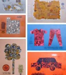 Basics   Painting by artist Bhuneshwar Azaad   mixed-media   Canvas