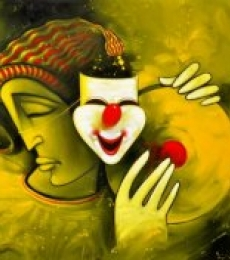 Figurative Acrylic Art Painting title 'Life' by artist Navnath Chobhe