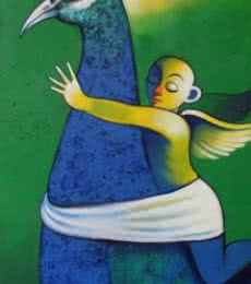 Navnath Chobhe | Acrylic Painting title Journey on Canvas | Artist Navnath Chobhe Gallery | ArtZolo.com
