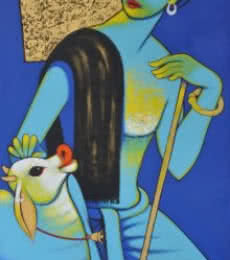 Dream 2 | Painting by artist Navnath Chobhe | acrylic | Canvas