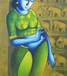 Celestial Beauty.sursundari 1 | Painting by artist Pratiksha Bothe | acrylic | Canvas