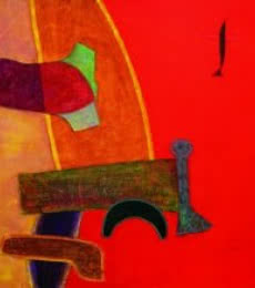 Bhushan Vaidhya Paintings | Abstract Painting - Untitled 14 by artist Bhushan Vaidhya | ArtZolo.com