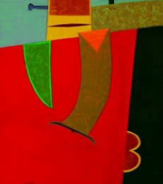 Untitled 4 | Painting by artist Bhushan Vaidhya | acrylic | Canvas