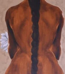 Nude Oil Art Painting title 'Untitle III' by artist Surendra Jagtap
