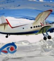 Aviation Oil Art Painting title 'Chariots Of Love 3' by artist Ankur Rana