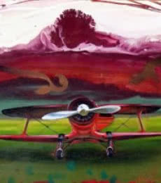 Aviation Oil Art Painting title 'Chariots Of Love 4' by artist Ankur Rana