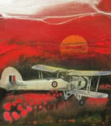 Aviation Oil Art Painting title Chariots Of Love 7 by artist Ankur Rana