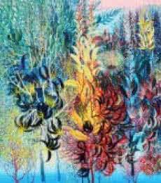 Exuberance XVII | Painting by artist Kishore Kumar Sahu | acrylic | Canvas