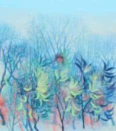 Kishore Kumar Sahu Paintings | Nature Painting - Exuberance VI by artist Kishore Kumar Sahu | ArtZolo.com