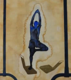 Yoga | Painting by artist Manish Sutar | watercolor | Paper