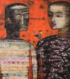 Story Of Khaleel Gibran | Painting by artist Raju Terdals | acrylic | Canvas