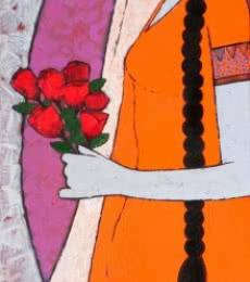 Rose   Painting by artist Rahul Mhetre   acrylic   Canvas