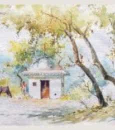 Temple   Painting by artist Swapnil Mhapankar   watercolor   Handmade Paper