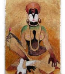 Figurative Acrylic Art Painting title 'The Form IX' by artist Mahesh Pal Gobra