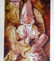 The Form of Sculpture VIII | Painting by artist Mahesh Pal  Gobra | acrylic | paper