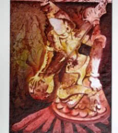 Figurative Acrylic Art Painting title 'The Form of Sculpture VIII' by artist Mahesh Pal Gobra